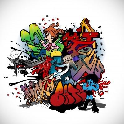 Poster Graffiti, arte urbana