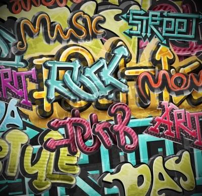 Poster Graffiti grunge background, eps 10