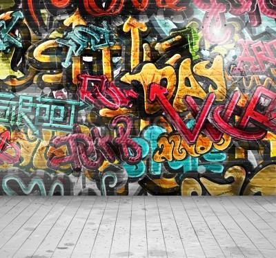 Poster Graffiti na parede, eps 10