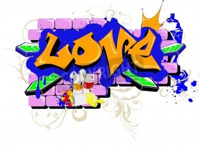 Poster Graffiti parede amo Arte Urbana