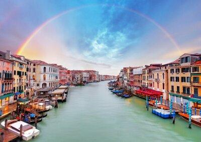 Poster Grand Canal - Venice from Rialto bridge
