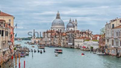 Poster Grande Canal e Basílica Santa Maria della Salute, Veneza, Itália