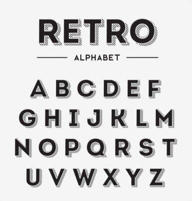 Poster Graphic Retro Set Cartas