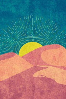 Poster Grunge desert dunes