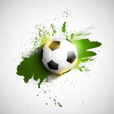 Poster Grunge futebol / soccer bola fundo