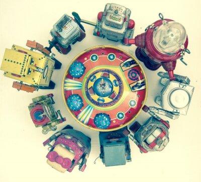 Poster Grupo, robô, brinquedos