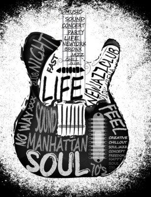 Poster Guitarra vector design gráfico