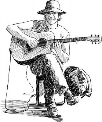 Poster guitarrista