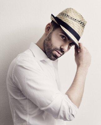 Poster Homem com chapéu
