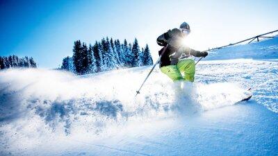 Poster Homem, esqui, downhill