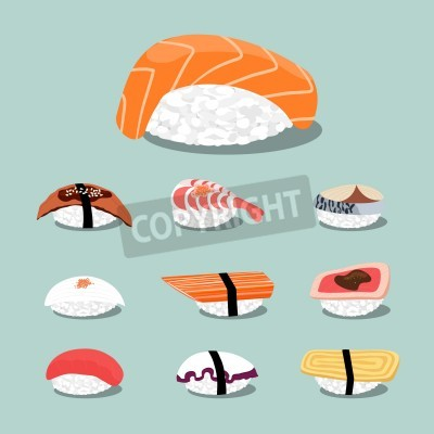 Poster Icon set Sushi