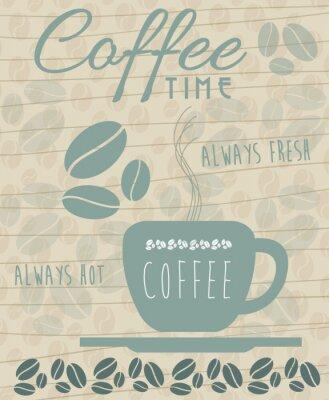 Poster Ícone do café