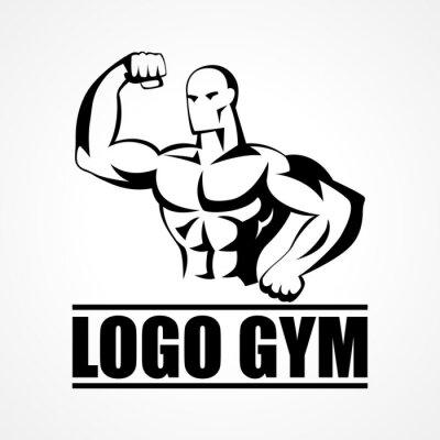 Poster Ícone ou símbolo do Bodybuilder