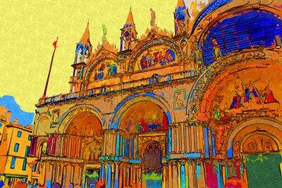 Poster Ilustração da arte de Veneza