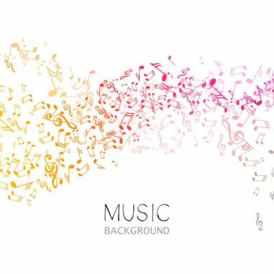 Poster Ilustração de um fundo de música abstrata