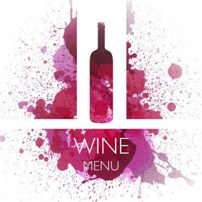 Poster Ilustração de Vinho Modelo de Design