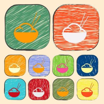 Poster ilustração do vetor de ícone moderno silhueta