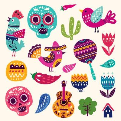 Poster Ilustração, Símbolos, México