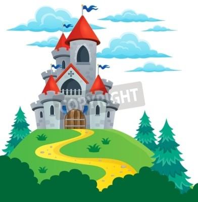 Poster Imagem do tema do castelo de conto de fadas 2 - ilustração vetorial eps10.