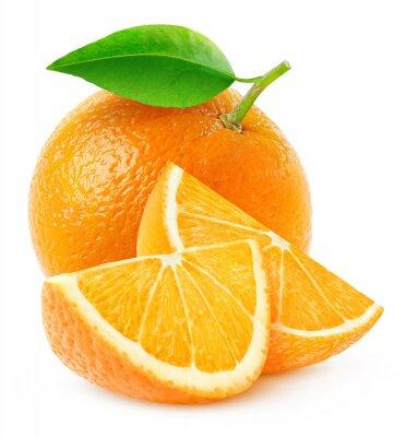 Poster Isolado, laranja, fruta, fatias
