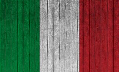 Poster Itália, bandeira, antigas, madeira, fundo
