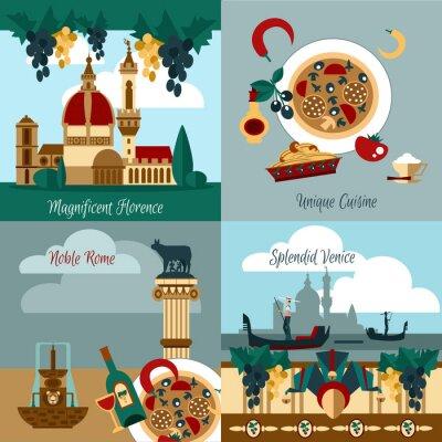 Poster Itália Conjunto Turístico