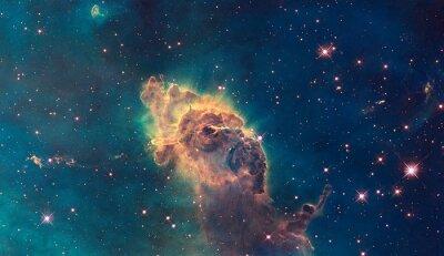 Poster Jato na nebulosa de Carina. Composto de gás e poeira.