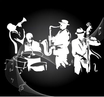 Poster Jazz concerto fundo preto