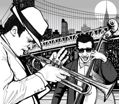 Poster jazz em Nova York
