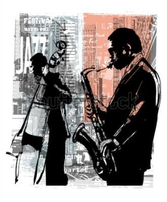 Poster Jazz em Nova York - ilustração vetorial