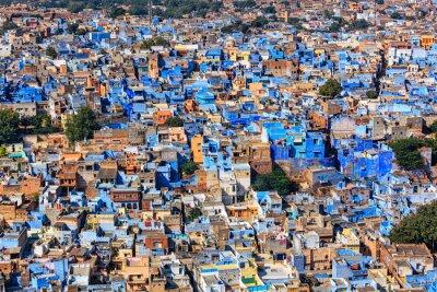 Poster Jodhpur, a, azul, cidade, Rajasthan, Índia