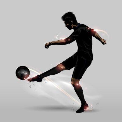 Poster Jogador de futebol meia volei