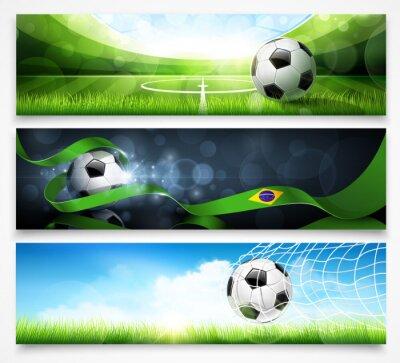 Poster Jogo de bandeiras de futebol. Vetor