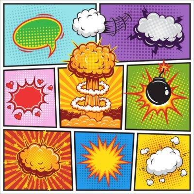 Poster Jogo dos comics discurso e explosão das bolhas 2
