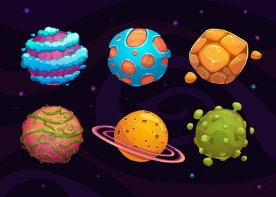 Poster Jogo dos desenhos animados da fantasia planeta