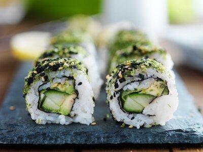 Poster Kale, abacate e pepino sushi