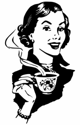 Poster Lady Coffee