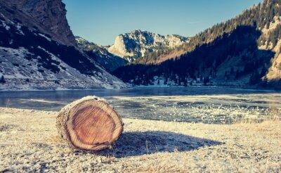 Poster Lago congelado da montanha.