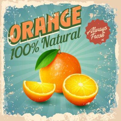 Poster laranja vintage
