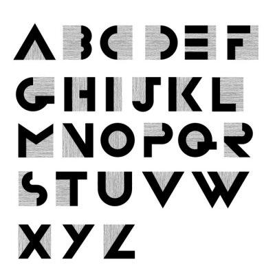 Poster Largo, decorativo, retro, alfabeto