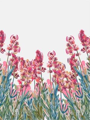 Poster lavender vecor background pink flower card colorful