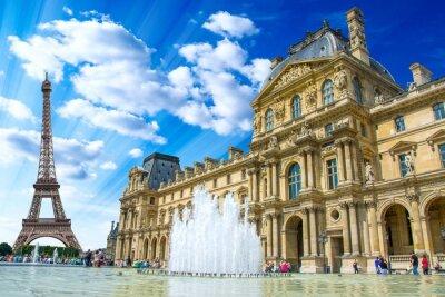 Poster Le Louvre, Paris, França