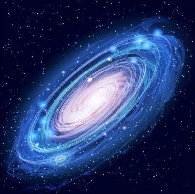 Poster Linda Incandescência Galáxia de Andrômeda