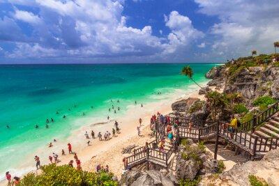 Poster Linda praia de Tulum no México