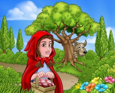 Poster Little Red Riding Hood e Wolf Scene