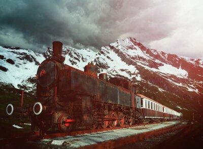 Poster locomotiva a vapor
