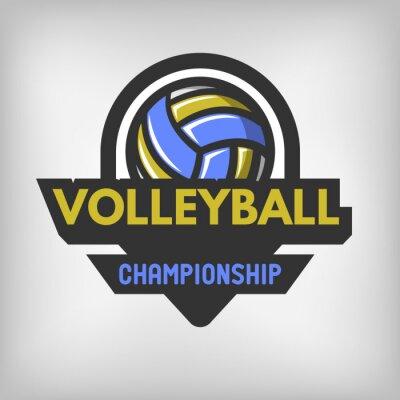 Poster Logotipo do esporte do voleibol.