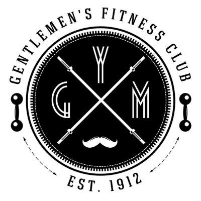 Poster Logotipo do gym do vintage