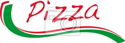 64b0f543cd3b6 Logotipo pizza com cores itália verde vermelho cartazes para a ...