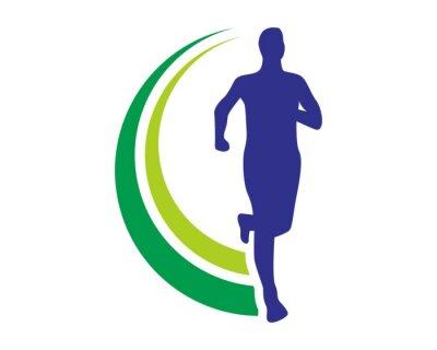 Poster logotipo run saúde